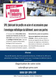 affiche SPO semaine industrie - LHermitage